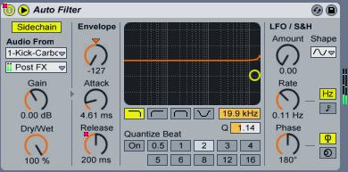 Sidechaining with auto-filter in Live 8